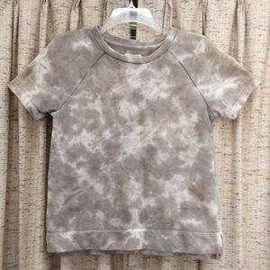 Lou & Grey Tie Dye Short Sleeve Sweatshirt